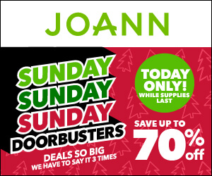 Joann's Sunday Door Busters