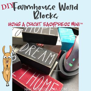 DIY Farmhouse Word Blocks