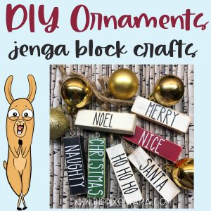 DIY Farmhouse Christmas Ornaments – Jenga Block Crafts