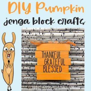 DIY Farmhouse Pumpkin – Jenga Block Crafts and Free SVG