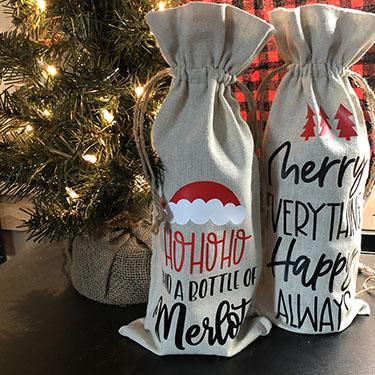 Christmas Wine Bag – Make It Monday