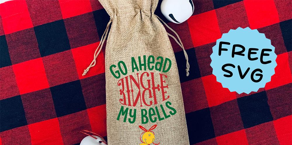Friday Freebie – Christmas Wine Bag SVG