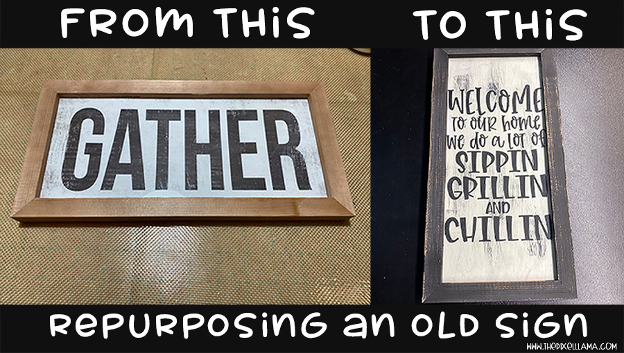 Repurpose An Old Sign PLUS HTV On Wood