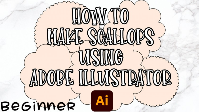 How to make a Scallop in Adobe Illustrator 2020