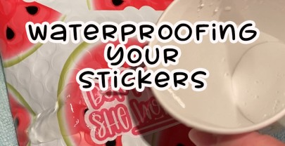 Use Transparent Vinyl to Waterproof Stickers