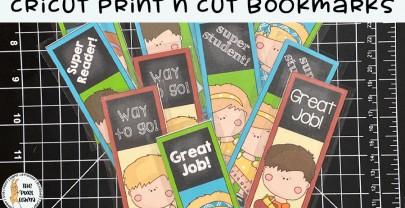 Cricut Print n Cut Bookmarks