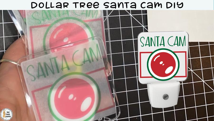 Dollar Tree Santa Cam Stickers DIY