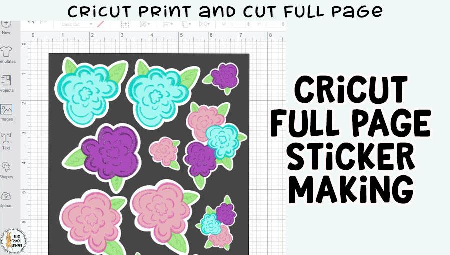 Cricut Print and Cut Full Page