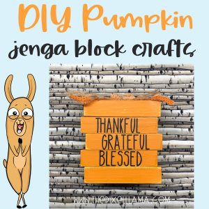 DIY Farmhouse Pumpkin – Jenga Block Crafts and Free SVG