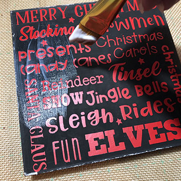 Christmas Sign Using Dollar Tree Items