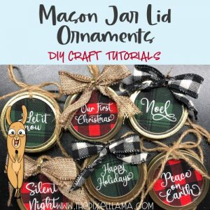 Mason Jar Lid Ornaments Craft Tutorial