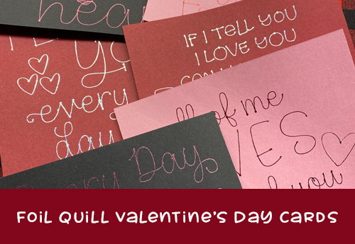 Foil Quill Valentines Day Cards
