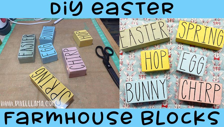 DIY Easter Farmhouse Blocks