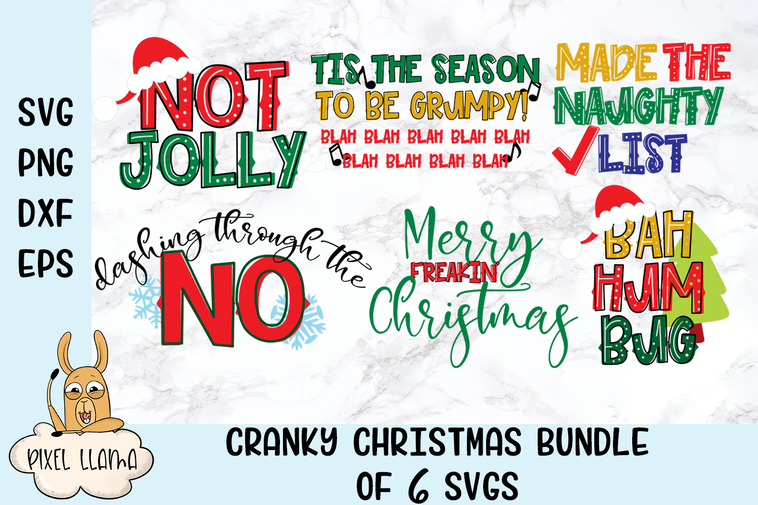 View Bah Hum Bug Christmas Svg And Dxf Cut File Ò Png Ò Download File Ò Cricut Ò Silhouette Crafter Files