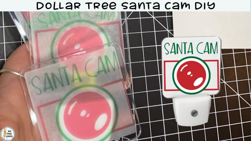 Dollar Tree Santa Cam Stickers DIY