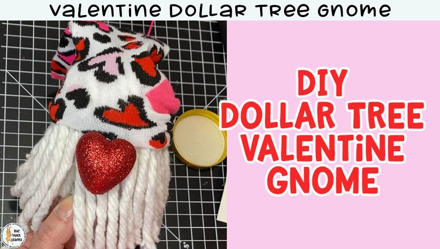 Valentine Dollar Tree Gnome