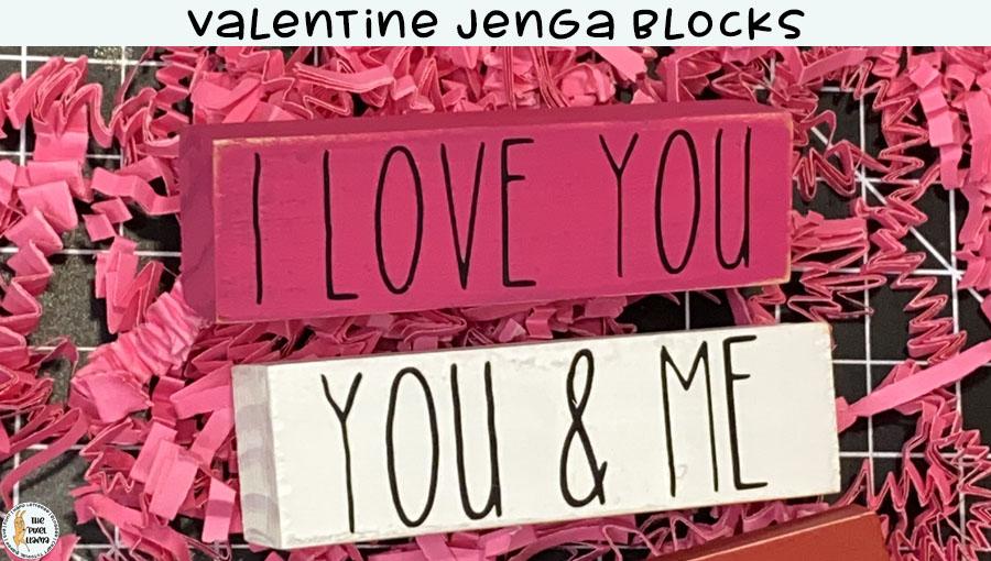 Valentine Jenga Blocks